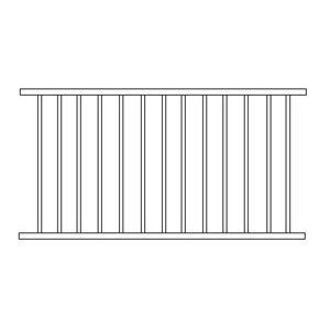 Aluminium Flat Top Fence Panel